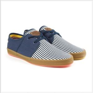 Base London fish n chips spam 2 striped sneakers